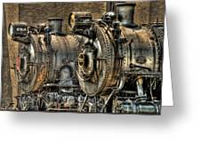 Train - Engine - Brothers Forever Greeting Card