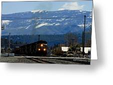 Train Entering Truckee California Greeting Card