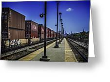 Train From Chicago Greeting Card