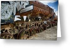 Train Graveyard Uyuni Bolivia 14 Greeting Card