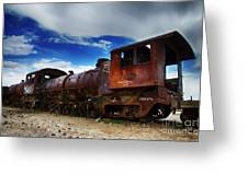 Train Graveyard Uyuni Bolivia 15 Greeting Card