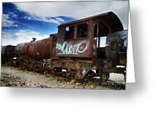 Train Graveyard Uyuni Bolivia 16 Greeting Card