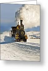 Train In Winter Greeting Card