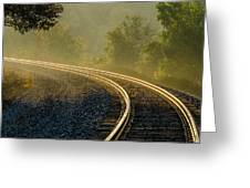 Train Lines Greeting Card