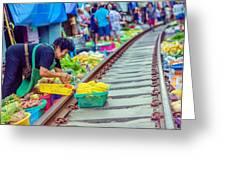 Train Market 2323 Greeting Card