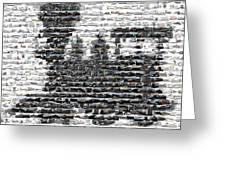 Train Mosaic Greeting Card