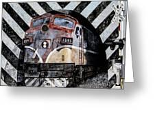 Train Mural Greeting Card