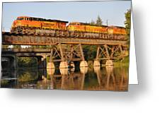 Train Over Water Greeting Card