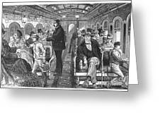 Train: Passenger Car, 1876 Greeting Card