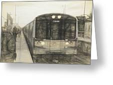 Train Sketch Greeting Card