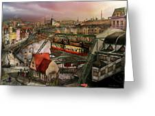 Train Station - Wuppertal Suspension Railway 1913 Greeting Card
