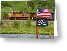 Train The Flags Greeting Card