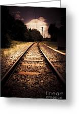 Train Tour Of Darkness Greeting Card