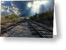 Train Track Junction In Charleston Sc Greeting Card