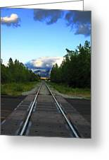 Train Tracks Anchorage Alaska Greeting Card