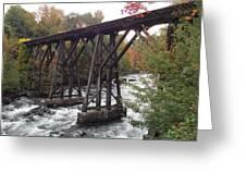 Train Tracks Over The Winnipesaukee River Greeting Card