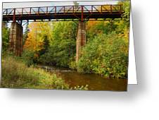 Train Trestle Greeting Card by Michael Peychich