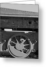 Train Wheel Greeting Card