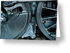 Train Wheels Greeting Card