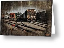 Train Yard Greeting Card