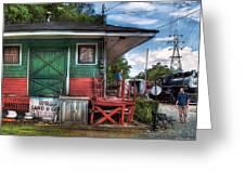 Train - Yard - The Train Station Greeting Card by Mike Savad