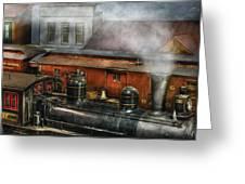 Train - Yard - The Train Yard II Greeting Card