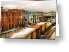Train - Yard - Train Town Greeting Card