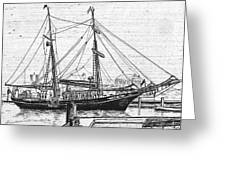 Training Ship Tabor Boy At Woods Hole Town Dock Greeting Card