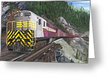 Trainmaster At Myra Greeting Card