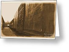 Trains 12 Albumen Border Greeting Card