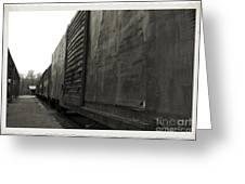 Trains 12 Platinum Border Greeting Card
