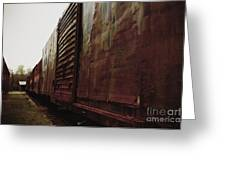 Trains 12 Retro Greeting Card