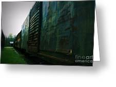 Trains 12 Vign Greeting Card