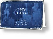 Trains 14 Cyanotype Border Greeting Card
