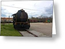 Trains 3 Org Greeting Card