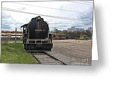 Trains 3 Paint Org Greeting Card