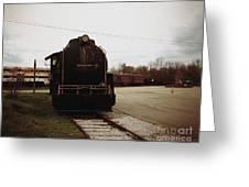 Trains 3 Retro Greeting Card