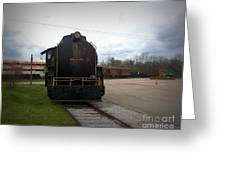 Trains 3 Vign Greeting Card