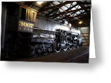 Trains 3007 C B Q Steam Engine Greeting Card