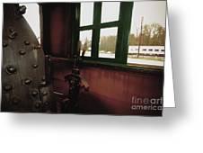 Trains 5 Retro Greeting Card