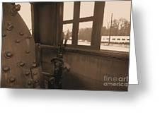 Trains 5 Sepia Greeting Card