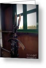 Trains 6 Vign Greeting Card