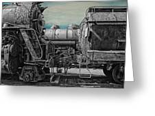 Trains Ancient Iron Sc Greeting Card