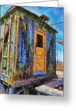 Trains Box Car Yellow Door Pa 02 Greeting Card