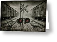 Trains Crossing Greeting Card