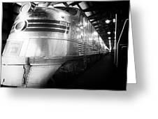 Trains Emd E5 Diesel Locomotive Bw Greeting Card
