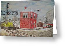 Trains In Motion Greeting Card