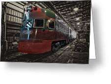 Trains North Shore Line Electroliner Sc Greeting Card