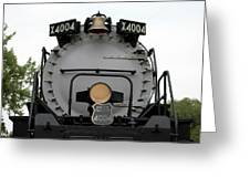 Trains Union Pacific Big Boy 4004 Front End Greeting Card