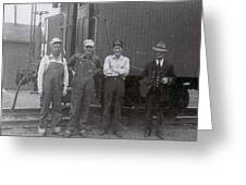 Trainsmen Greeting Card